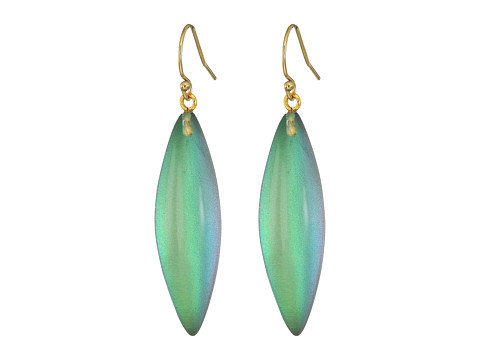 Alexis Bittar Sliver Earrings - Clear Green Opalescent