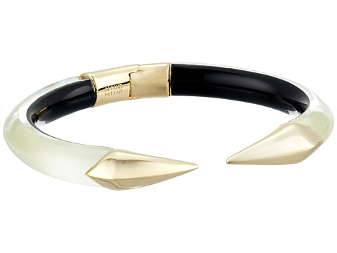 Alexis Bittar Mirrored Pyramid Brake Hinge Bracelet - Clear Ivory