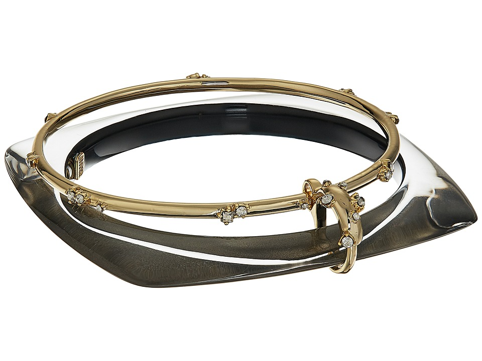 Alexis Bittar Alexis Bittar - Geometric Linked Bangle Set with Satellite Crystal Detail Bracelet