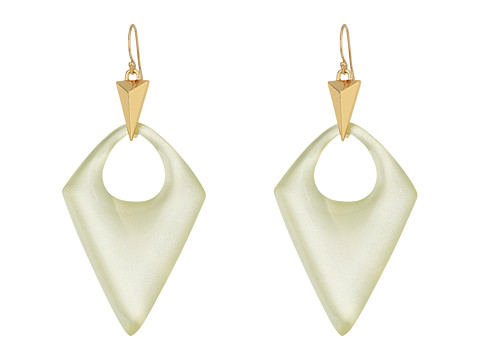 Alexis Bittar Pointed Pyramid Drop Earrings - Clear Ivory
