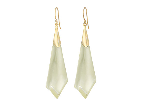 Alexis Bittar Faceted Wire Earrings - Clear Ivory
