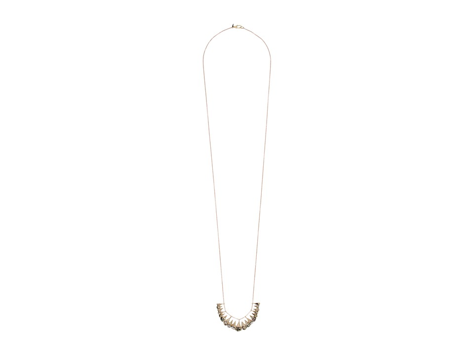 Alexis Bittar - Arrayed Stone Cluster Pendant Necklace (10K Gold) Necklace