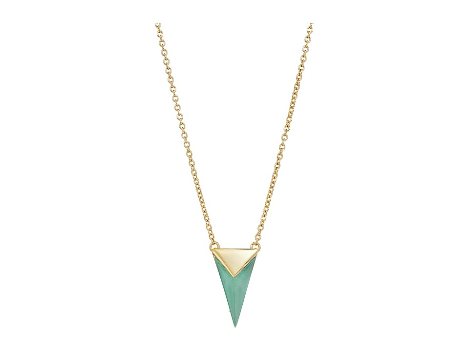 Alexis Bittar - Faceted Pyramid Pendant Necklace