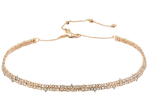 Alexis Bittar Encrusted Spike Choker Necklace - Rose Gold