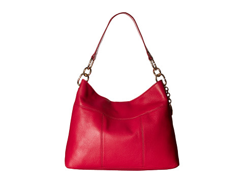 Tommy Hilfiger Tommy Signature Pebble Hobo - Bright Rose