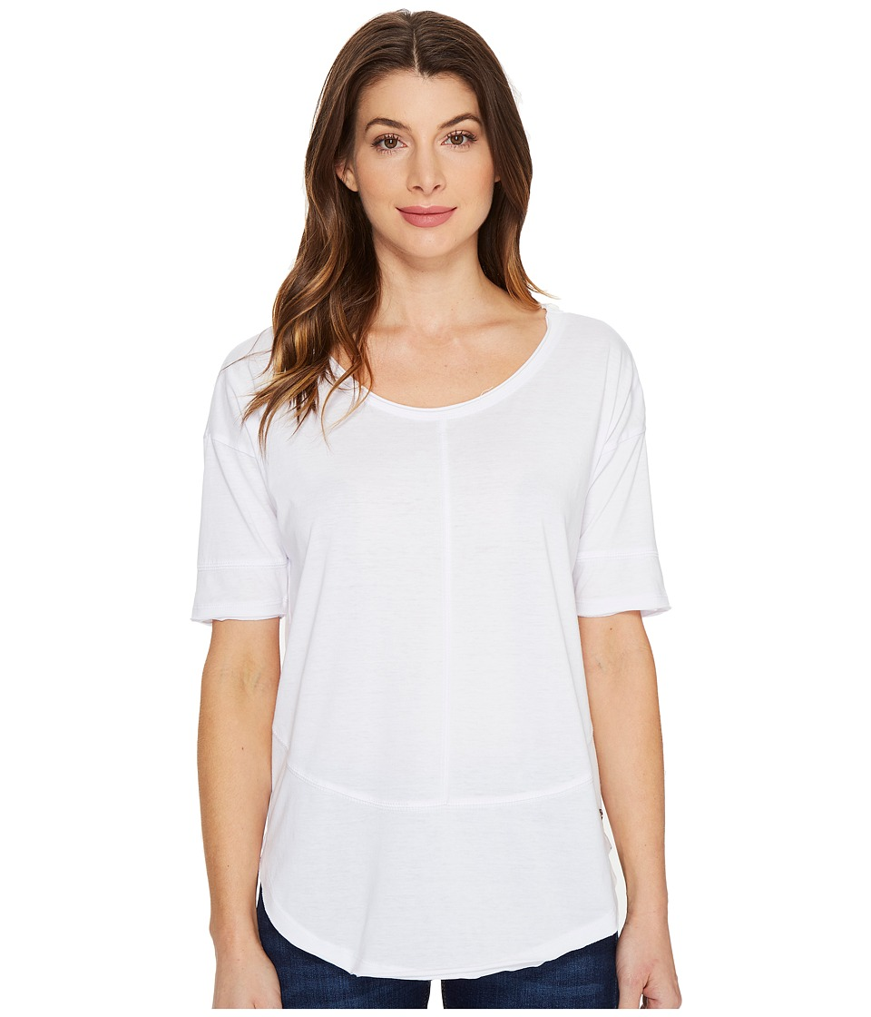 Jag Jeans Caf Tee in Burnout Jersey (White) Women