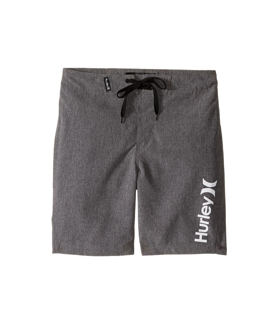 Hurley Kids Heathered Boardshorts (Little Kids) (Black Heather) Boy