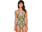 Pacific Paisley High Neck One-Piece
