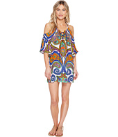 Trina Turk - Pacific Paisley Off Shoulder Tunic Cover-Up