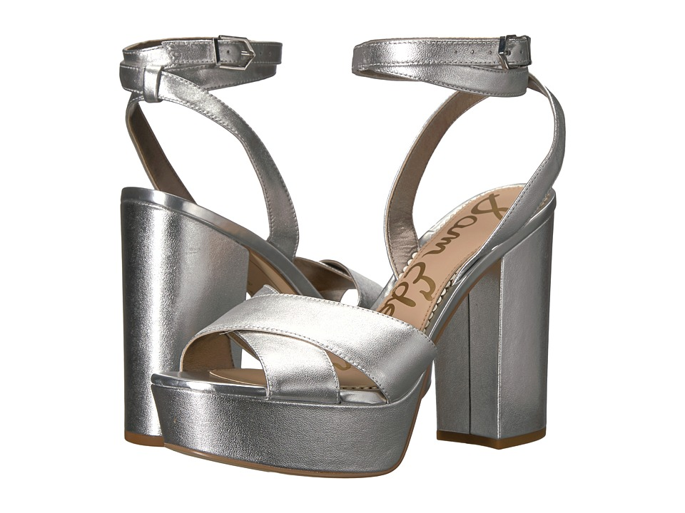 Sam Edelman Mara (Soft Silver Grainy Foiled Metallic Leather) Women
