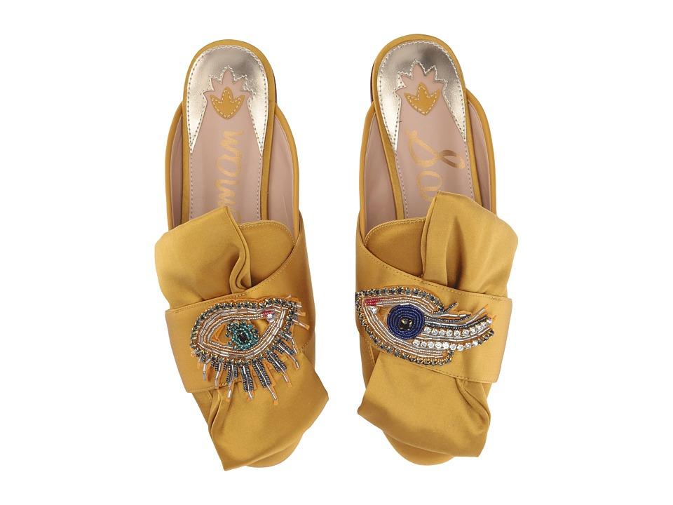 Sam Edelman Peters 2 (Tuscan Yellow Satin Lux Fabric/Eye ...