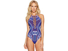 Jakarta Embroidery High Neck One-Piece