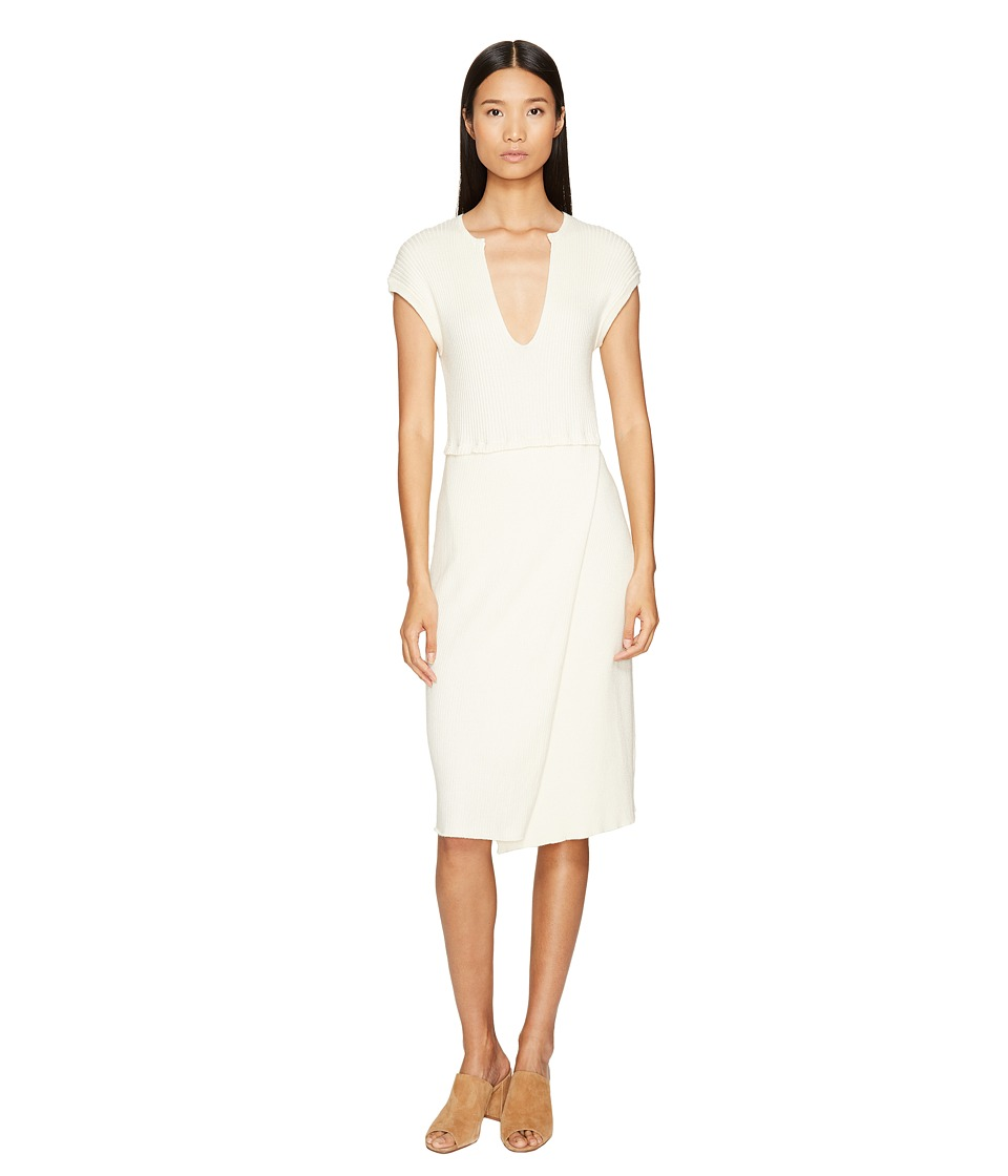 Cashmere In Love - Camilla Ribbed Dress (Vanilla Ice) Wom...