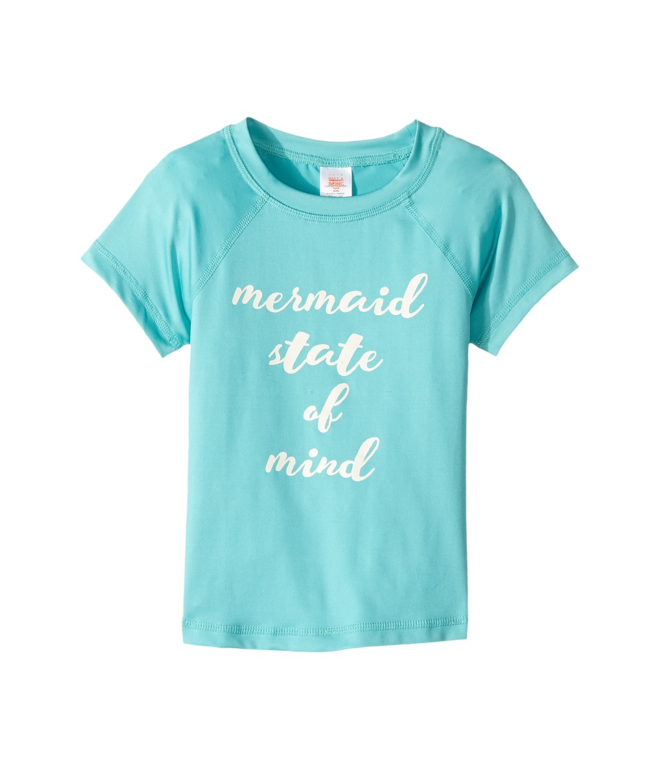 Billabong Kids Sol Searcher Short Sleeve Rashguard (Little Kids/Big Kids) (Tiki Turquoise) Girl