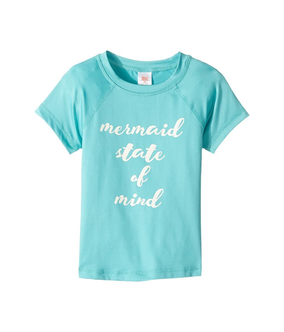 Billabong Kids Sol Searcher Short Sleeve Rashguard (Little Kids/Big Kids) (Tiki Turquoise) Girl