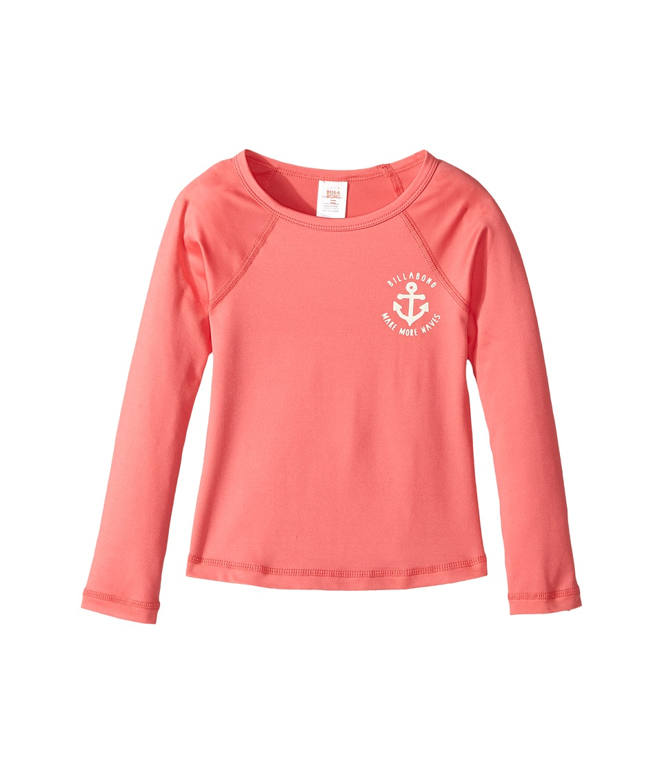 Billabong Kids Sol Searcher Long Sleeve Rashguard (Little Kids/Big Kids) (Paradise Pink) Girl