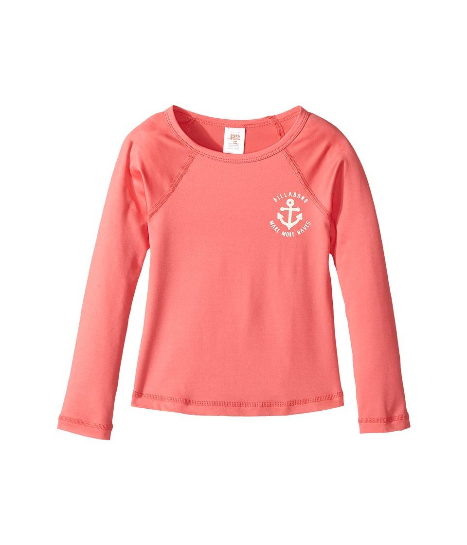 Billabong Kids Sol Searcher Long Sleeve Rashguard (Little Kids/Big Kids) (Paradise Pink) Girl