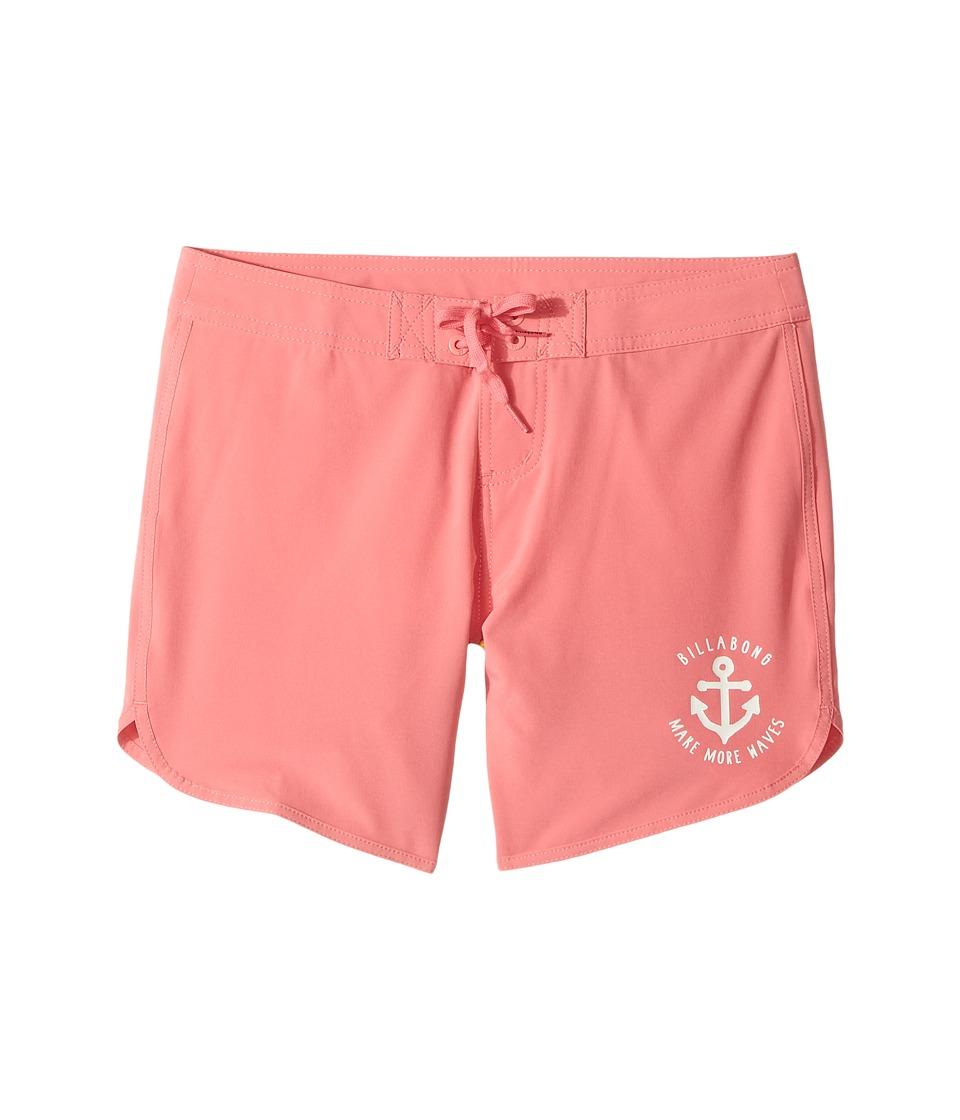 Billabong Kids Sol Searcher 5 Boardshorts (Little Kids/Big Kids) (Paradise Pink) Girl
