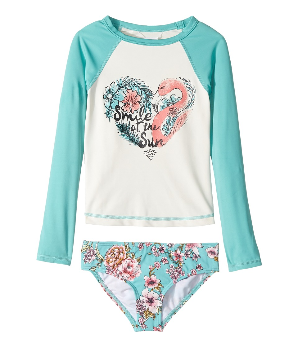 Billabong Kids Blooming Beauty Rashguard Set (Little Kids/Big Kids) (Tiki Turquoise) Girl