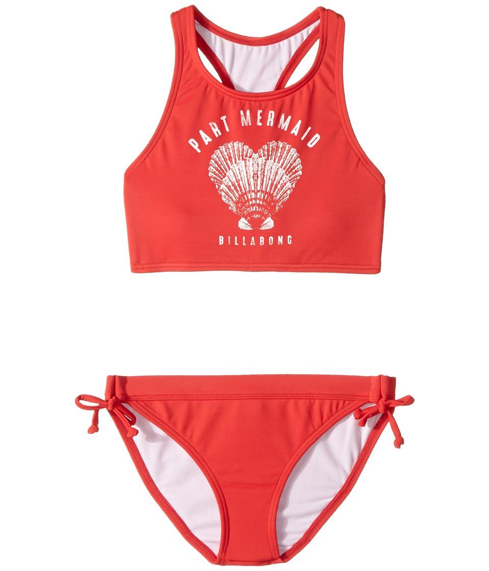 Billabong Kids Sol Searcher High Neck Set (Little Kids/Big Kids) (Bikini Red) Girl