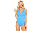 La Blanca Island Goddess Multi Strap Cross-Back Mio One-Piece