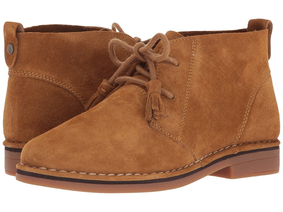Vintage Style Shoes, Vintage Inspired Shoes Hush Puppies - Cyra Catelyn Camel Suede Womens Lace-up Boots $98.95 AT vintagedancer.com