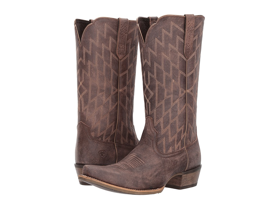 Ariat Heritage Southwestern X-Toe (Tack Room Chocolate) Cowboy Boots