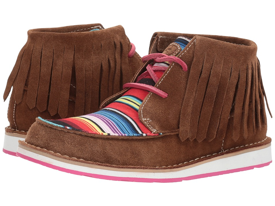 Ariat Cruiser Fringe (Dark Brown Suede/Pink Serape) Women's Lace-up Boots