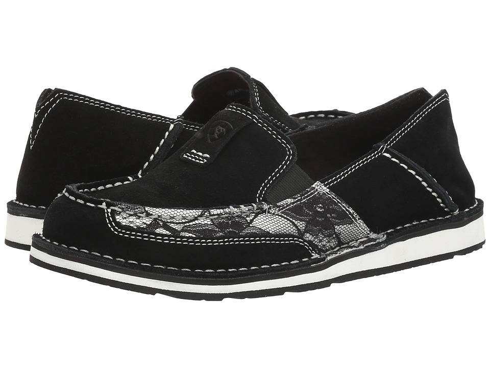 Ariat Cruiser (Black Suede/Black Lace) Slip-On Shoes