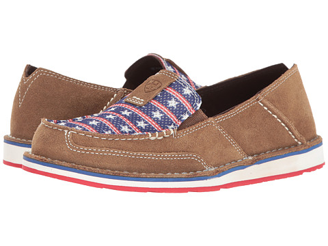 Ariat Cruiser - Dirty Tan Suede/Stars and Stripes Print