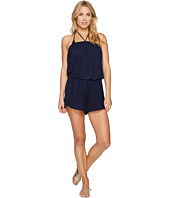 Lucky Brand - Catalina Sunset Dolphin Hem Halter Romper Cover-Up