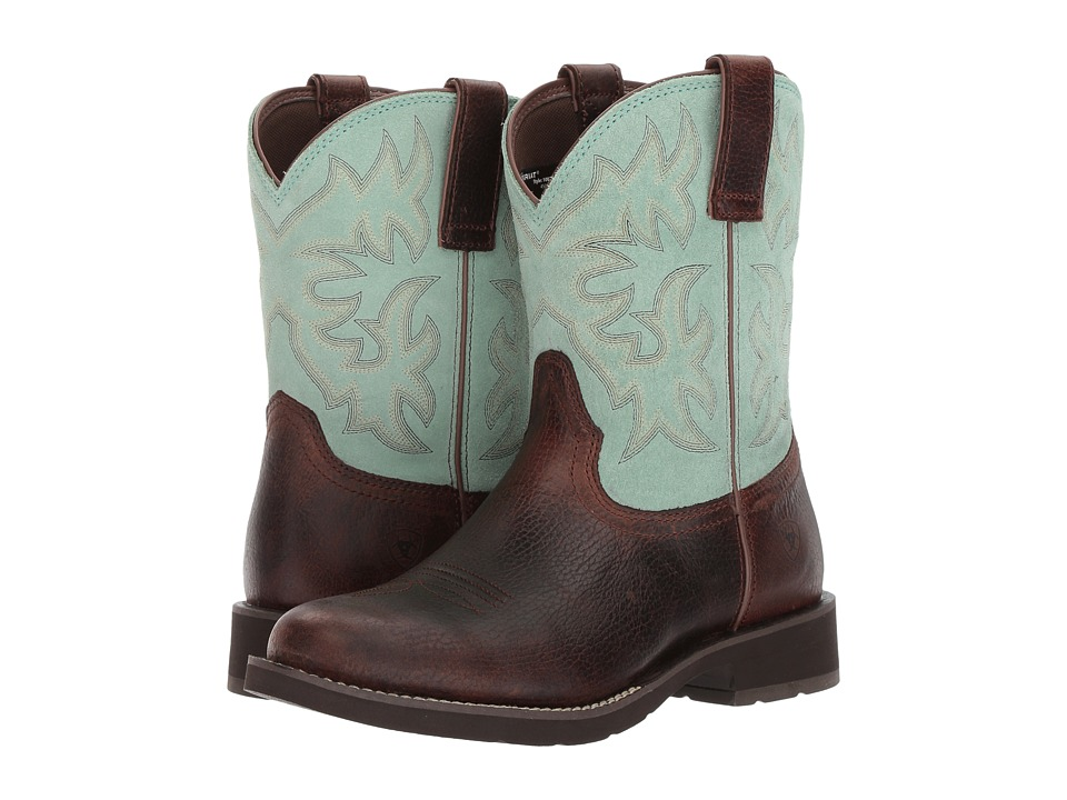 Ariat Lilly (Pecan/Aquamarine) Cowboy Boots