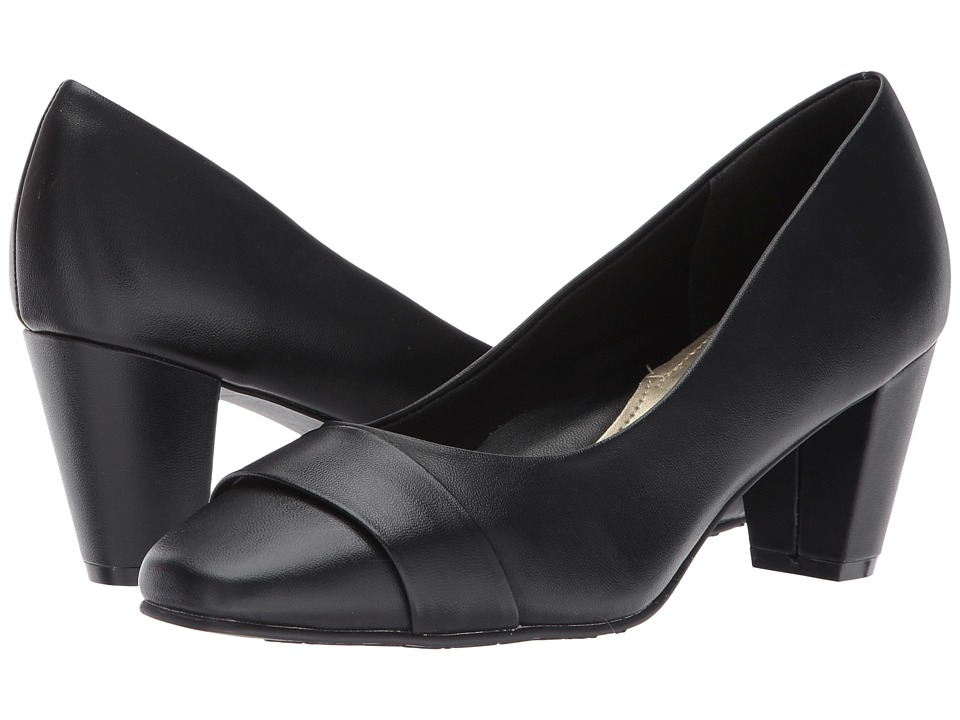 Soft Style Mabry (Black Kid) 1-2 inch heel Shoes