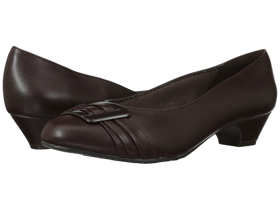 Soft Style Pleats Be With You (Dark Brown) 1-2 inch heel Shoes