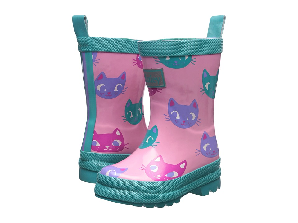 Hatley Kids Silly Kitties Rain Boots (Toddler/Little Kid) (Pink) Girls Shoes