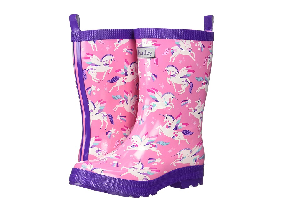 Hatley Kids Rainbow Unicorns Rain Boots (Toddler/Little Kid) (Pink) Girls Shoes