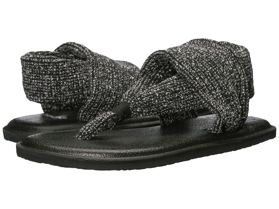 Sanuk Kids Lil Yoga Sling Knitster (Little Kid/Big Kid) (Black) Girls Shoes
