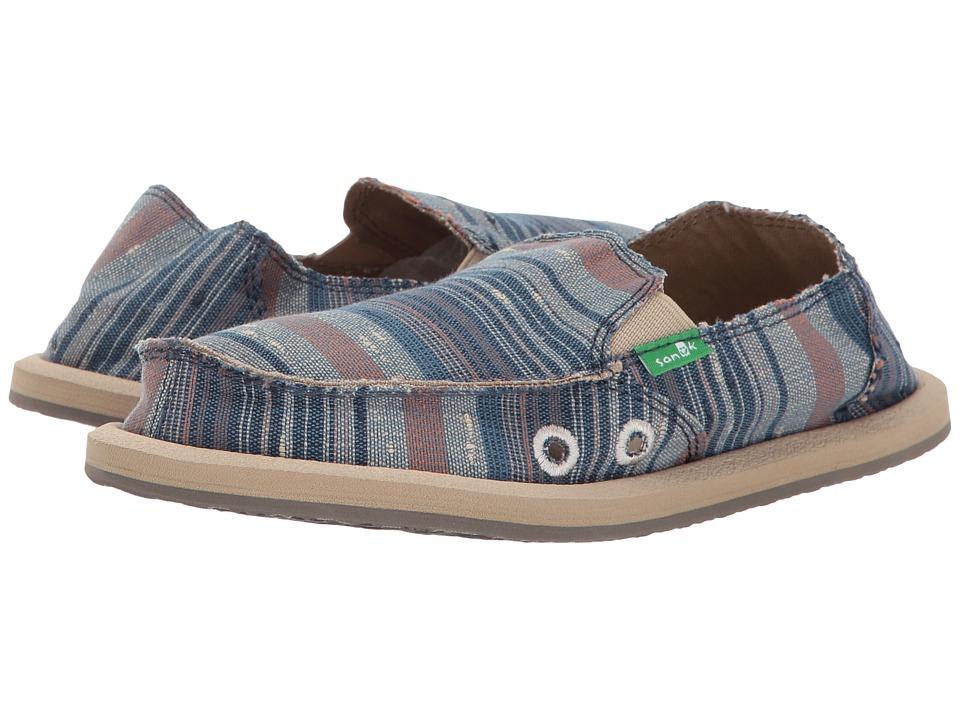 Sanuk Kids Vagabond Tribal (Little Kid/Big Kid) (Vintage Denim Stripe) Kid's Shoes