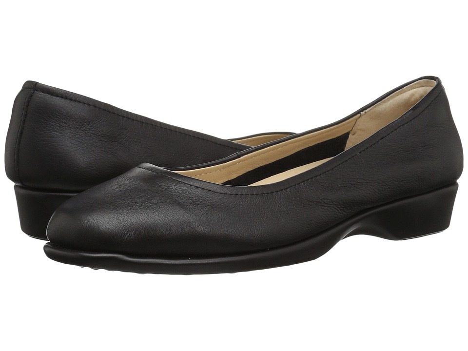 Hush Puppies Tabee Paradise (Black Leather) Women's Slip-on Dress Shoes