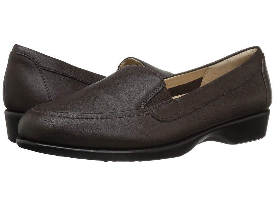 Hush Puppies Jennah Paradise (Dark Brown Leather) Women's Slip-on Dress Shoes