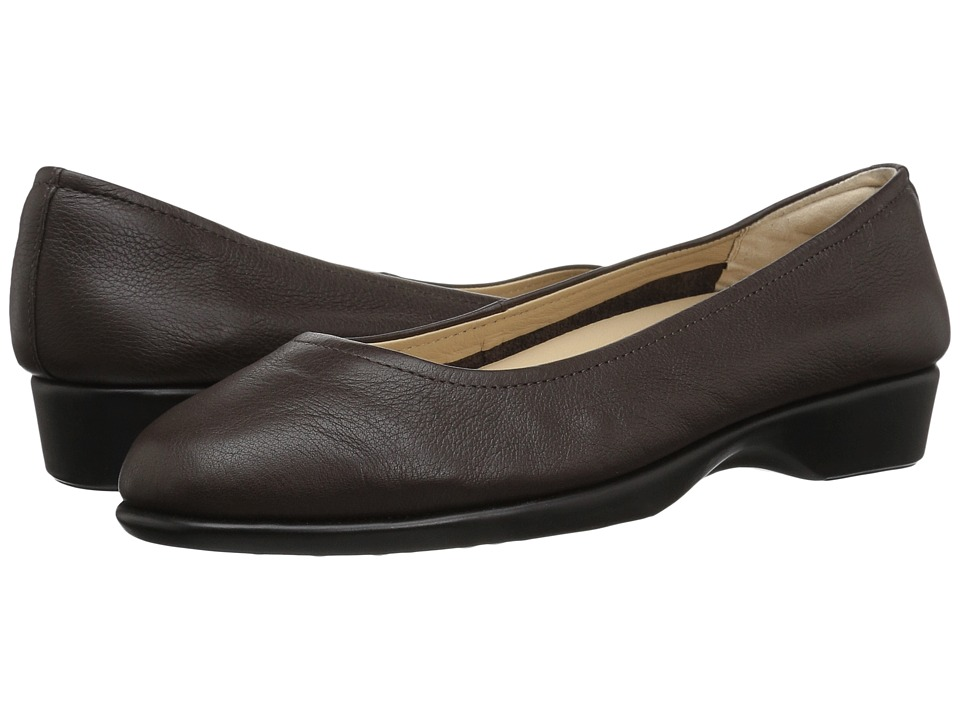 Hush Puppies Tabee Paradise (Dark Brown Leather) Women's Slip-on Dress Shoes