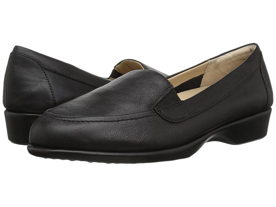 Hush Puppies Jennah Paradise (Black Leather) Women's Slip-on Dress Shoes