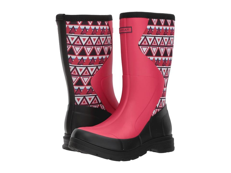 Ariat Springfield Rubber Boot (Hot Pink/Aztec Print) Women's Waterproof Boots