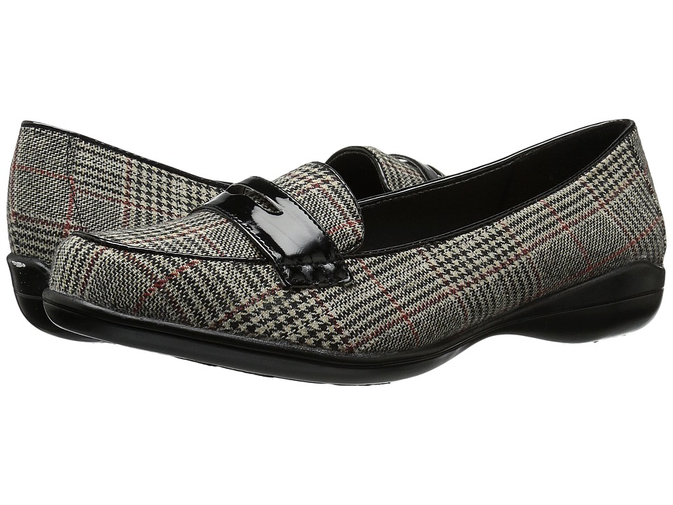 Soft Style Daly (Black Plaid/Patent) Women