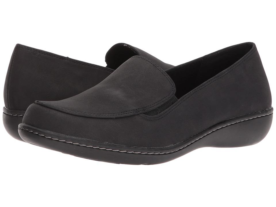 Soft Style Jaylene (Black Nubuck) Flats