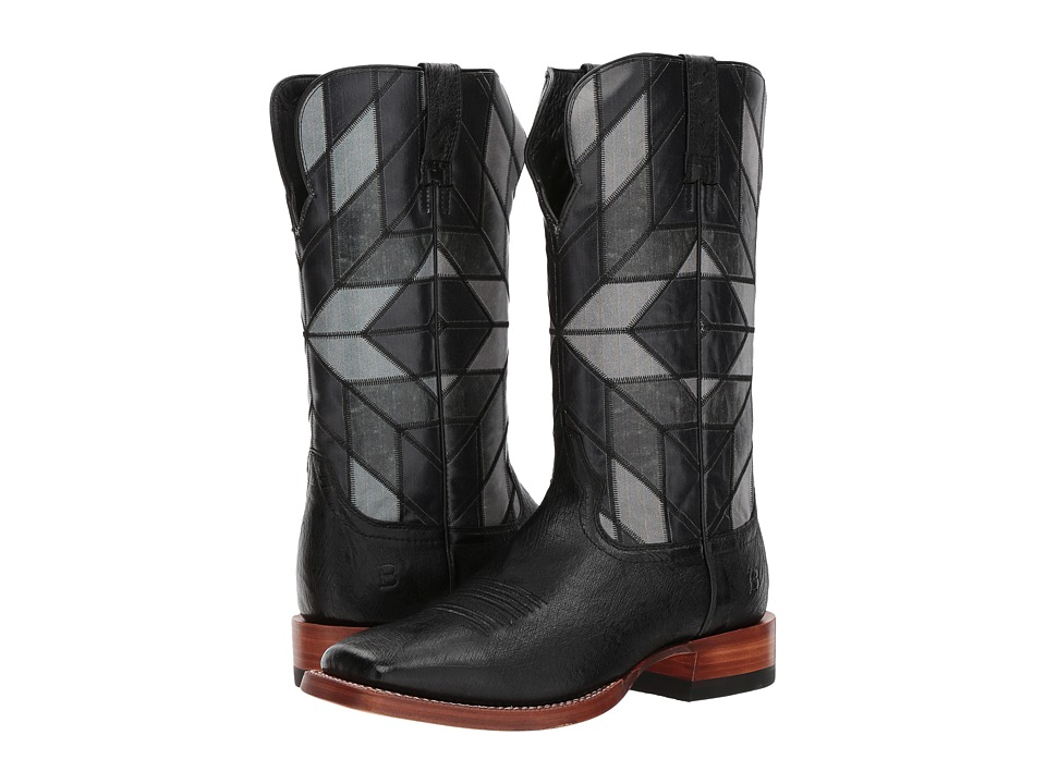 Ariat - World Champion (Black Smooth Quill Ostrich/Shades of Night) Cowboy Boots