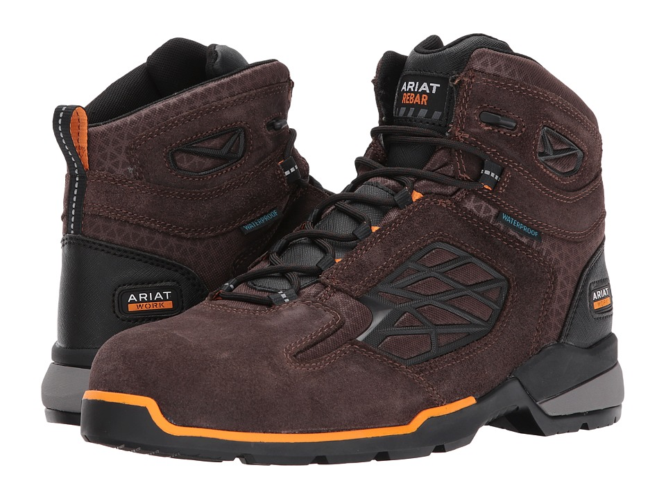 Ariat Rebar Flex 6 H2O Composite Toe (Chocolate Brown) Me...