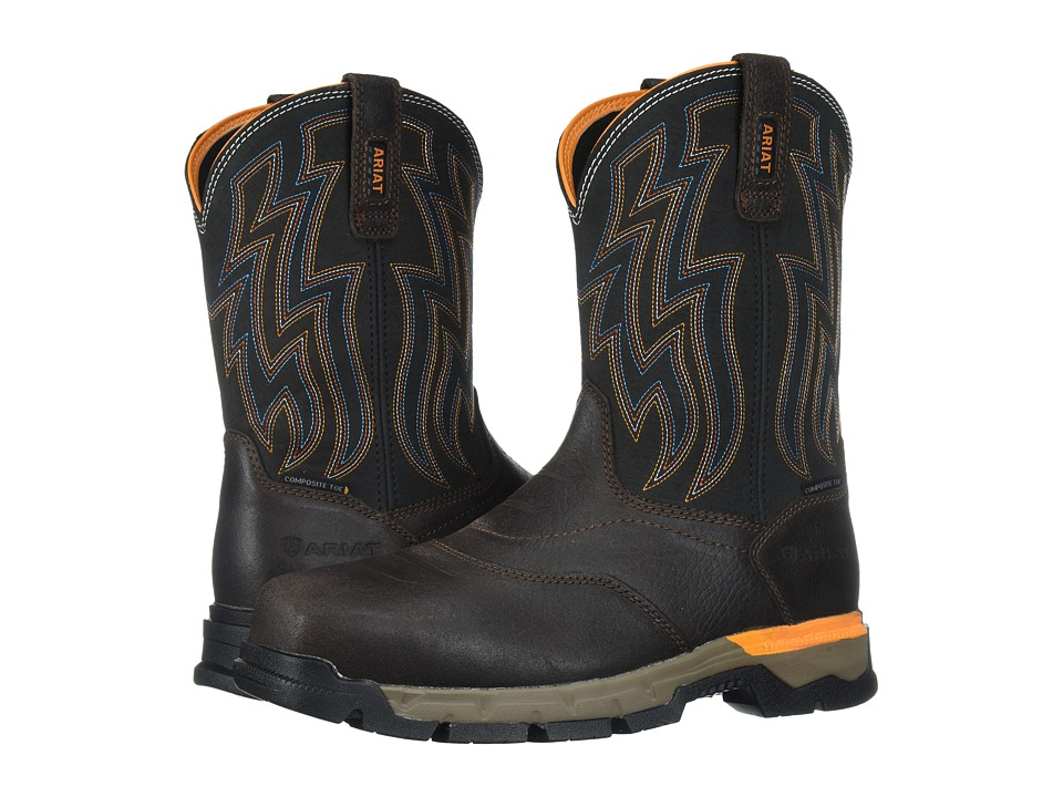 Ariat Rebar Flex Western Composite Toe (Chocolate Brown) ...