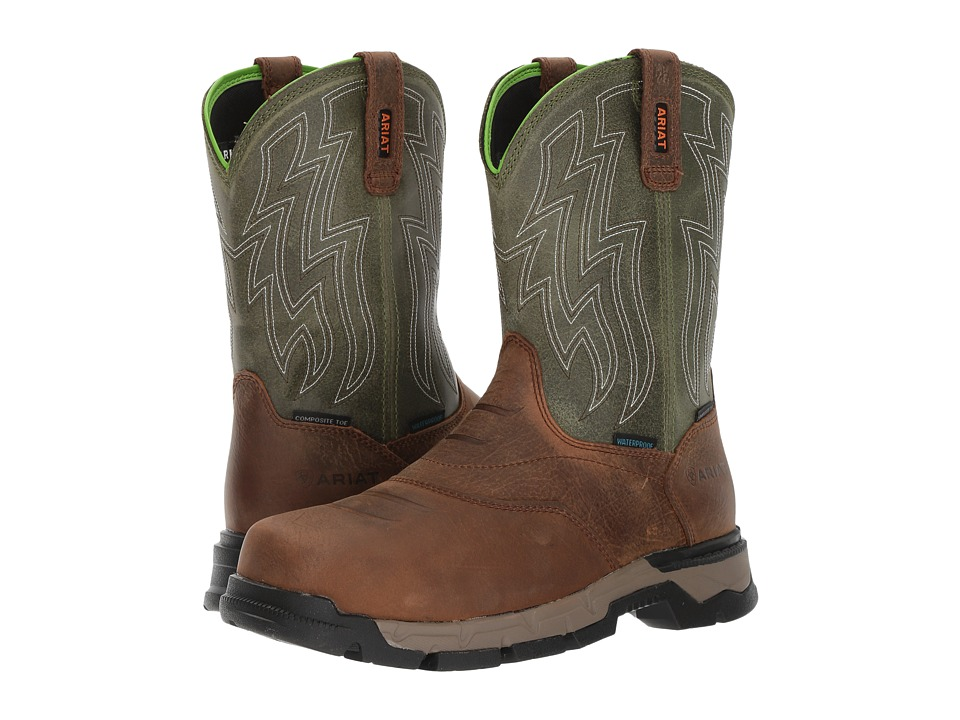 Ariat Rebar Flex Western H2O Composite Toe (Rye Brown/Oli...