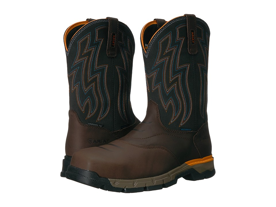 Ariat Rebar Flex Western H2O Composite Toe (Chocolate Bro...